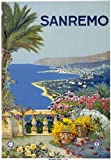 T12 Vintage 1920 Italy San Remo Sanremo Italian Travel Poster Re-Print - A2+ (610 x 432mm) 24