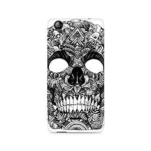 Mobicture Skull Artistic Premium Printed Case For Micromax Canvas Selfie 2 Q340