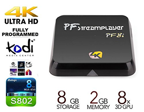 New Model (Life Span Doubled) PigflyTech® Android TV Box PF-Streaming Player PF8