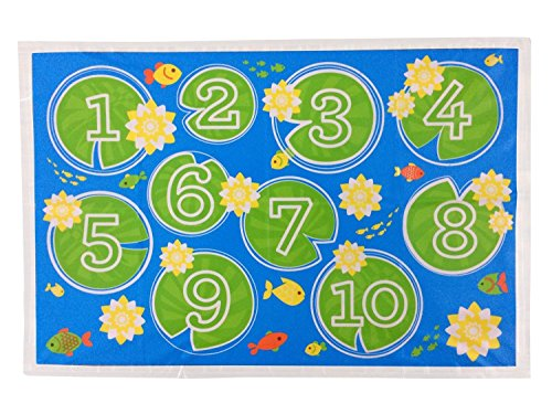 Little Things Premium Disposable Stick-On Placemats for Toddlers or Baby, 100% BPA FREE, Adhesive Strips on All Sides, Fun and Educational Table Mats for Babies, 12 x 18 in., 3 Packs of 20 (Adhesive Bib Numbers compare prices)