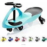 EIGHTBIT Swivel Car Rolling Ride On Car - Indoor / Outdoor - Sky
