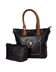 ADISA B1686 BLACK Women PU Handbag