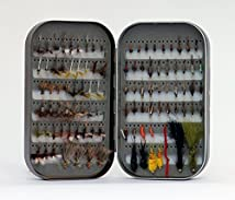 Fly Box + 100 Assorted Fly Fishing Fly Package