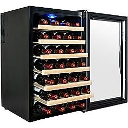 AKDY® 28 Bottle Single Zone Thermoelectric Freestanding Wine Cooler Cellar Chiller Refrigerator Fridge Quiet Operation