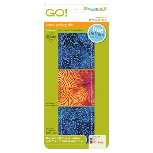 """Accuquilt Go! Square - 3"""" (2.1/2"""" Finished) front-812815"""