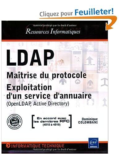 """Commandez """"LDAP Maîtrise du protocole"""""""