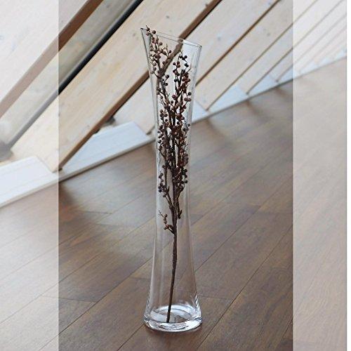 """Vaso, vaso da terra, vaso in vetro, collezione """"Famous"""", H=75 cm, vetro, trasparente (CRISTALICA ..."""