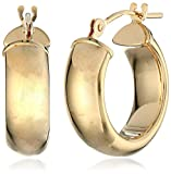 Duragold 14k Yellow Gold Hoop Earrings