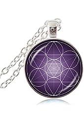 Metatron's Cube Necklace Sacred Geometry Pendant Spiritual Jewelry Flower of Life Necklace Women Jewelry