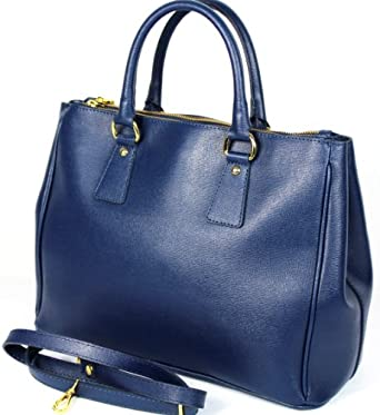 Designer Inspired Navy Blue Pillar Box Genuine Italian Leather Handbag ...