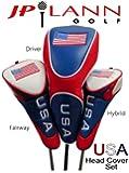 USA AMERICAN FLAG Headcover Set (Driver, Fairway Wood, Hybrid)