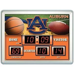 Auburn Tigers Scoreboard Clock Therm- 14 x 19 by Team Sports America