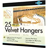 Closet Complete  Ultra Thin Heavy Duty No Slip Velvet Suit Hangers, Camel, Set of 25 ~ Closet Complete