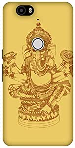 The Racoon Lean Gold Ganesh hard plastic printed back case / cover for Huawei Nexus 6P