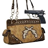 Khaki Dual Six-Shooter Conceal and Carry Purse