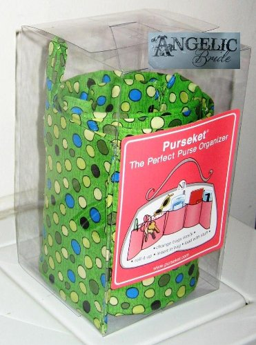 Purseket Medium Purse Organizer Insert Green Sea Bubbles