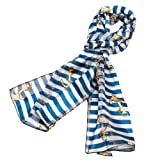 Stripe Anchor Scarf Blue