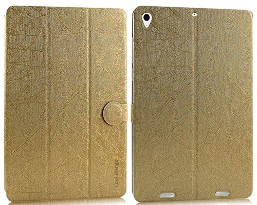 Cool Mango Executive PU Leather Flip Case / Cover for Xiaomi Mi Pad - Simple Gold