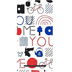 Casotec Inscription Picture Design Hard Back Case Cover for Sony Xperia T2 Ultra