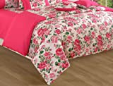 Swayam Printed Cotton Double Comforter - Pink (ACS 01-1428)