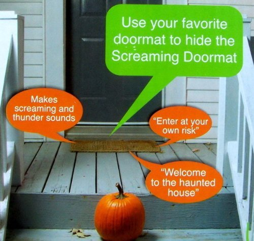 1-X-Pressure-Sensitive-SCREAMING-DOORMAT-Halloween-Decoration-BATTERY-OPERATED-Just-Place-It-Under-Your-Doormat