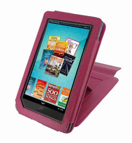 rooCASE (Magenta) Leather Case Cover  22 Angle