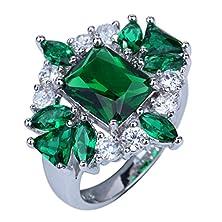 buy Yazilind Elegant Valentine'S Day Clear Rhinestone Crystal Engagement Band Ring Wedding8