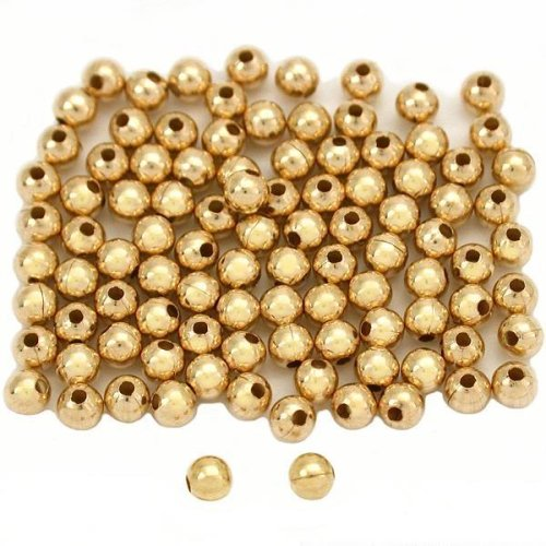 100 14K Gold Filled Round Little Beads Smooth 2.5mm