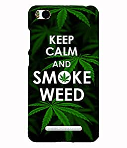 Back Cover for Xiaomi Mi4i KEEP CALM AND SMOKE WEED