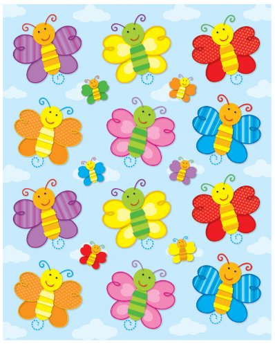 Carson Dellosa Butterflies Shape Stickers (168032)