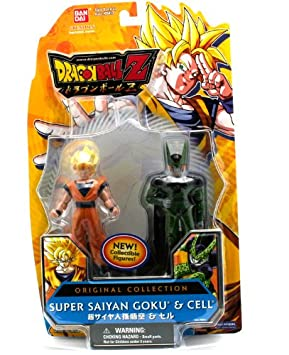 DragonBall Z Pack 2 de Figurines Original Collection Cell/Goku Super Saiyan 95011