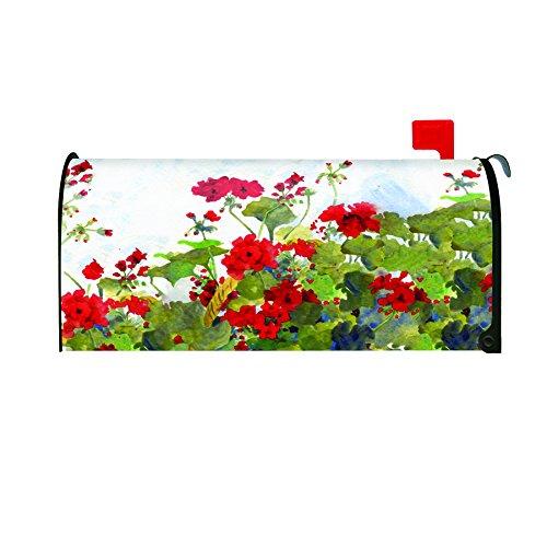 Toland Home Garden Geranium Basket Decorative Mailbox