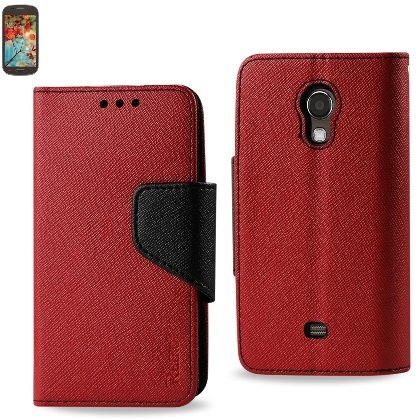 Reiko 3-In-1 Wallet Case for Samsung Galaxy Light T399 – Retail Packaging – Red