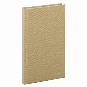 Boorum & Pease Handy Size 7 x 4 3/8 Inch 96-Page Bound Memo Book with Stiff Tan Cover (6559)