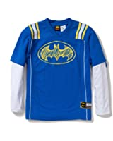 Batman Boys Long Sleeve 2-Fer Logo Jersey