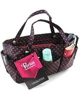 Periea Organiseur de sac à main Noir à pois rouges -Tilly