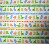 SheetWorld Fitted Sheet (BABYBJRN Travel Crib Light) - Baby Dino Marching - Made In USA