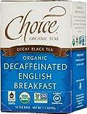 Choice Organic Teas, Decaf Black Tea, Decaffeinated English Breakfast, 16 Tea Bags, 1.1 oz (32 g)