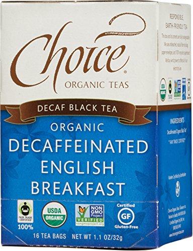 Choice Organic Teas Decaf English Breakfast Tea, 16 Count Tea Bag