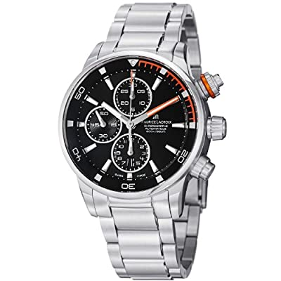 Maurice Lacroix Men's PT6008-SS002332 Pontos Black Chronograph Dial Watch