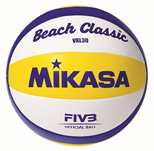 Mikasa Ball Beach Classic VXL 30, Weiß/Blau/Gelb, 5, 1623