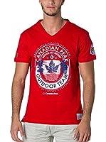 CANADIAN PEAK Camiseta Manga Corta Jeineken (Rojo)