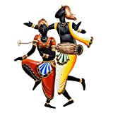 Dizionario Wrought Iron Modern Dancing Couple Designed Handcrafted Decorative Wall Hanging 45x60cm