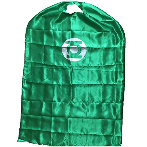 Starkma Adult Green Lantern Superhero Stain Cape Costume