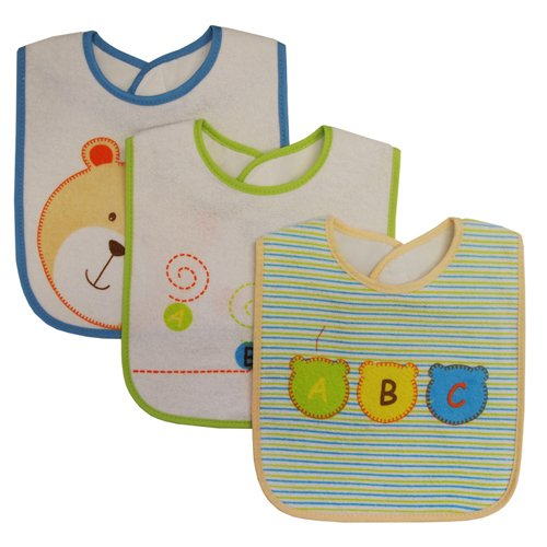 Kidiway Medium Bib, Bear, 3 Count