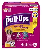 Pull-Ups Learning Designs Training Pants for Girls, Giga Pack, Size 4T-5T, 52 Count