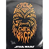 Peter Mayhew Signed Star Wars- Chewbacca Poster 24 inch x 36 inch