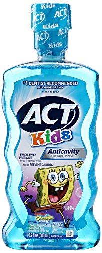 ACT Kids Anti-Cavity Mouthwash, Sponge Bob, 16.9 oz.