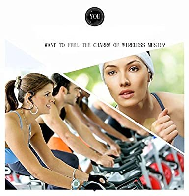 Blimark® Noise Cancelling Stereo Wireless Bluetooth Earbuds Headphones Headsets Sports Running Gym Hiking Jogger Exercise Earphones With Microphone for iPhone 6, 6 Plus, 5 5c 5s 4 and Android