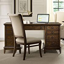 Hot Sale Hooker Furniture Classique Knee-Hole Desk in Medium Chestnut